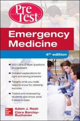 Download Emergency Medicine PreTest Self-Assessment and Review, Fourth Edition 125958707X