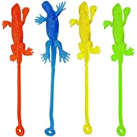 [Bilipala]Bilipala Stretchy Sticky Hands Toys Sticky Lizards, Pack of 24, Assorted Color ZYX055 [並行輸入品]