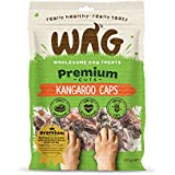 WAG Kangaroo Caps 200g, Grain Free Hypoallergenic Natural Australian Made Dog Treat Chew, Perfect for Training