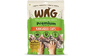 WAG Kangaroo Caps 200g, Grain Free Hypoallergenic Natural Australian Made Dog Treat Chew, Perfect for Training