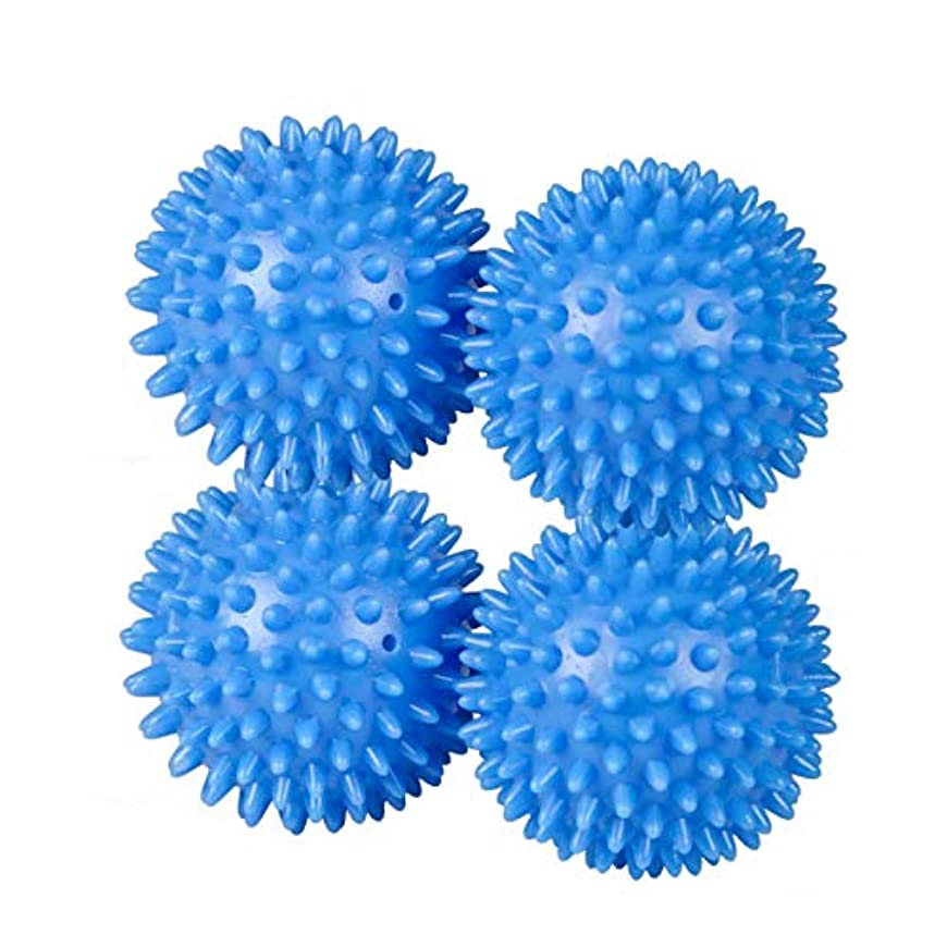 アベニュー花束限られたSunbeamプラスチックドライヤーボールランドリー柔軟剤、ブルー 4 Pack ブルー DB45040