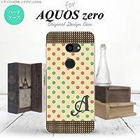 801SH AQUOS zero 801SH スマホケース カバー ドット・水玉 ベージュ×ミント 【対応機種:AQUOS zero 801SH 801SH】【アルファベット [R]】