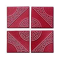 カラーデザインタイル ピンク 16枚セット