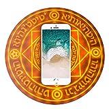 SPAHER [正品 保証付] 魔法陣充電器 円形無線置くだけ充電器 魔法の音効 急速充電 対応機種 iPhone8 Plus iPhoneX iPhoneXR iPhoneXS Max Samsung Galaxy Note9 (茶色 10W))
