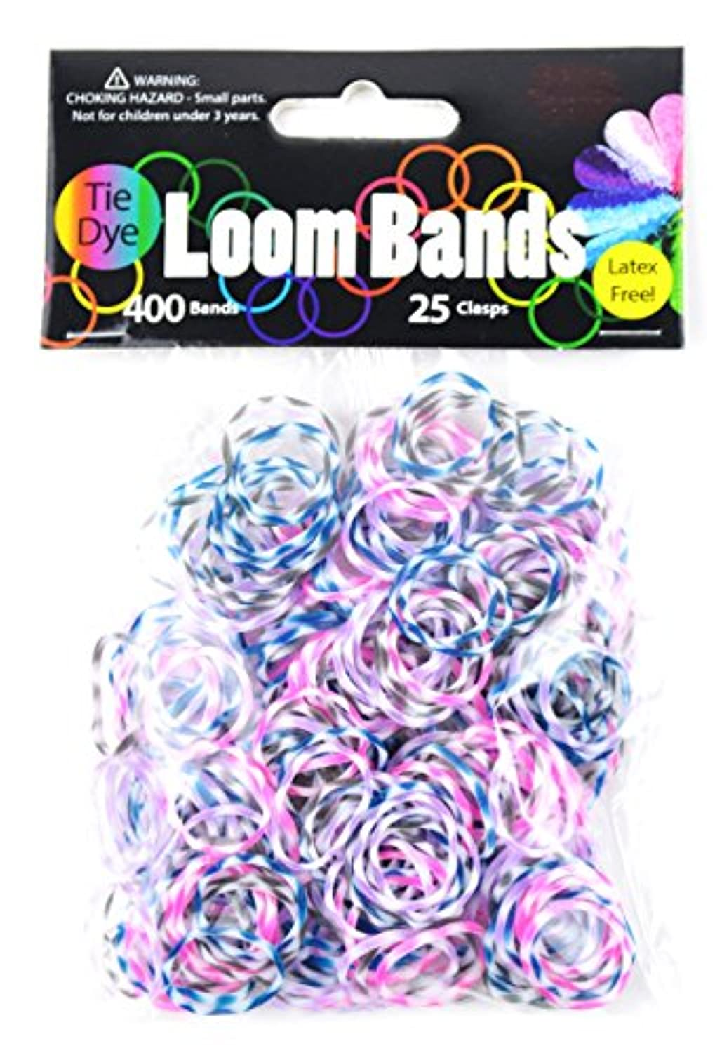 Midwest Design Imports Loom Bands Plum Blossom Tie Dye, Includes 400 Bands and 25 Clasps by Midwest Design Imports, Inc.