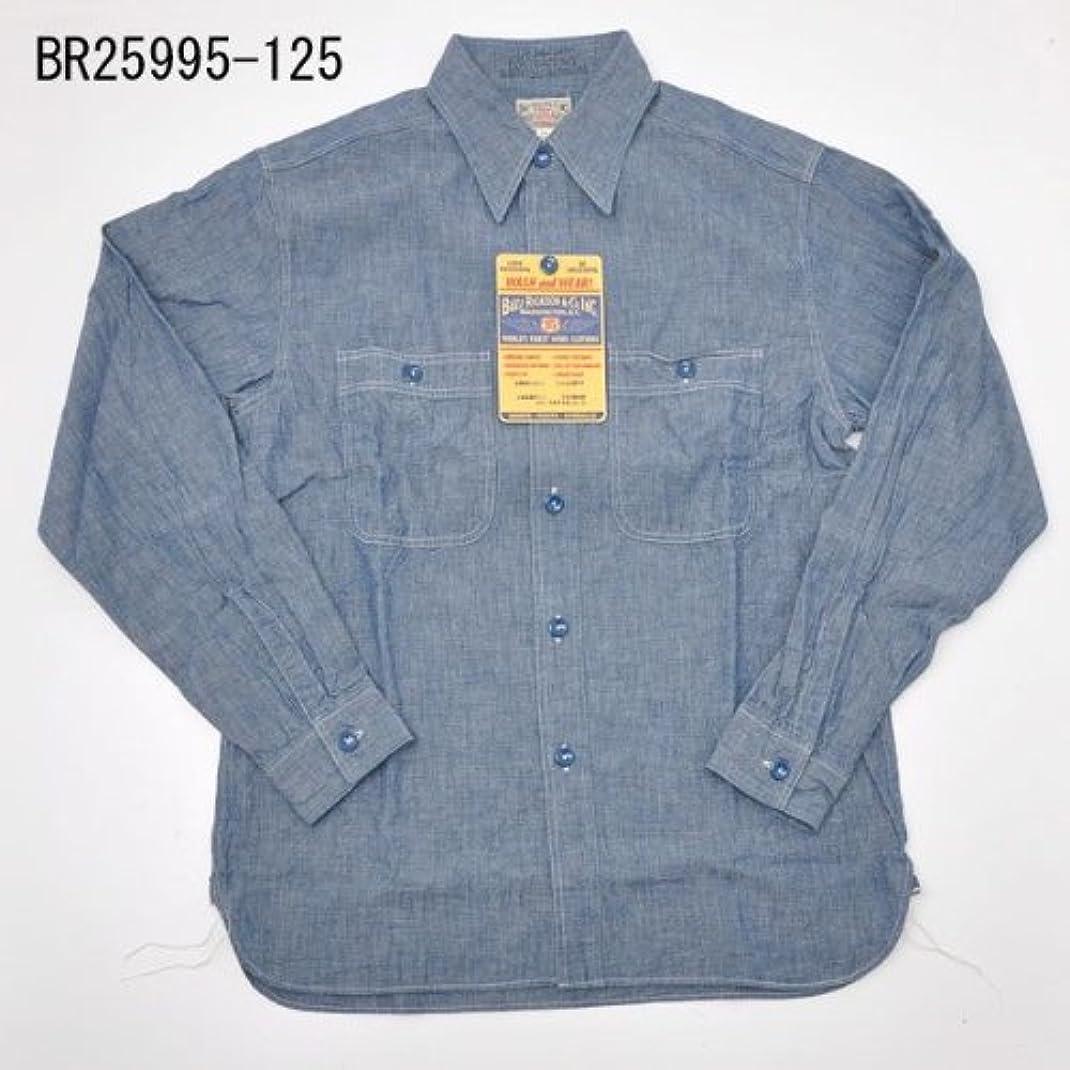 証人悪性細分化するBuzz Ricksons バズリクソンズ BR25995-125 シャンブレ長袖ワークシャツ ブルー (L, 125 ブルー)