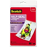 """Scotch Self-sealing Laminating Pouch - 4"""" Width x 6"""" Length x 9.60 mil Thickness - Type G - Glossy - Acid-free, Photo-safe -"""