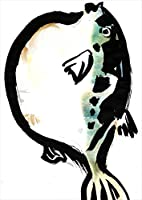 igsticker ポスター ウォールステッカー シール式ステッカー 飾り 210×297㎜ A4 写真 フォト 壁 インテリア おしゃれ 剥がせる wall sticker poster 001599 ユニーク 魚 ふぐ