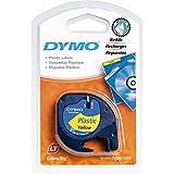 Dymo Letratag Tape, Plastic Yellow, 12mmx4m
