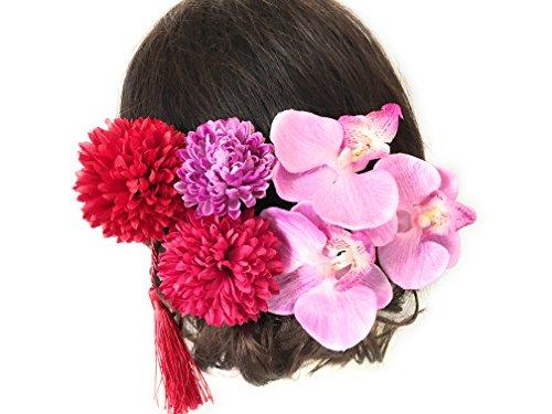 門出を彩る祝い花*花かんざしセット*着物髪飾り浴衣ヘア飾り*...