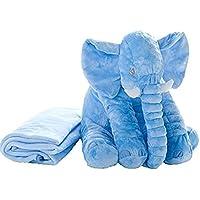象のぬいぐるみ ふわふわなおもちゃ 像ゾウ ぬいぐるみ 子供達の為の柔らかい大きなギフト 60CM グレー (灰 小さな)
