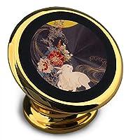 ホルダー 月の兎 マグネット式車載ホルダー スマホホルダー ユニバーサル 360度回転 強力ゲル吸盤式 エアコン吹き出し口用 取り付け簡単/360度回転可能/片手操作/磁気吸引機能