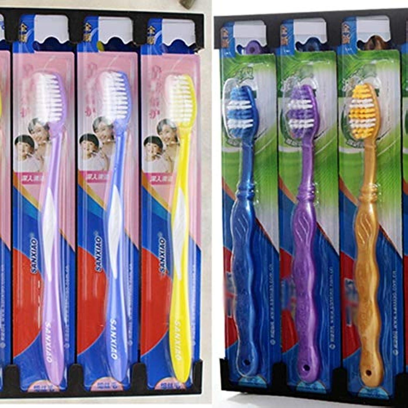 海峡名詞レッスン歯ブラシ 30本の歯ブラシ、旅行歯ブラシ、家族バルク大人歯ブラシ、ミディアム歯ブラシ - 使用可能なスタイルの3種類 HL (色 : C, サイズ : 30 packs)