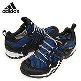 アディダス (adidas) 防水トレッキングシューズ アウトドア 25.0cm テレックス Terrex FAST X GTX ゴアテックス B33239 ブラック/ブルー 国内正規品