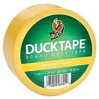 """Duck Coloredダクトテープ–1.88""""幅X 60Ft長–1/ロール–イエロー"""