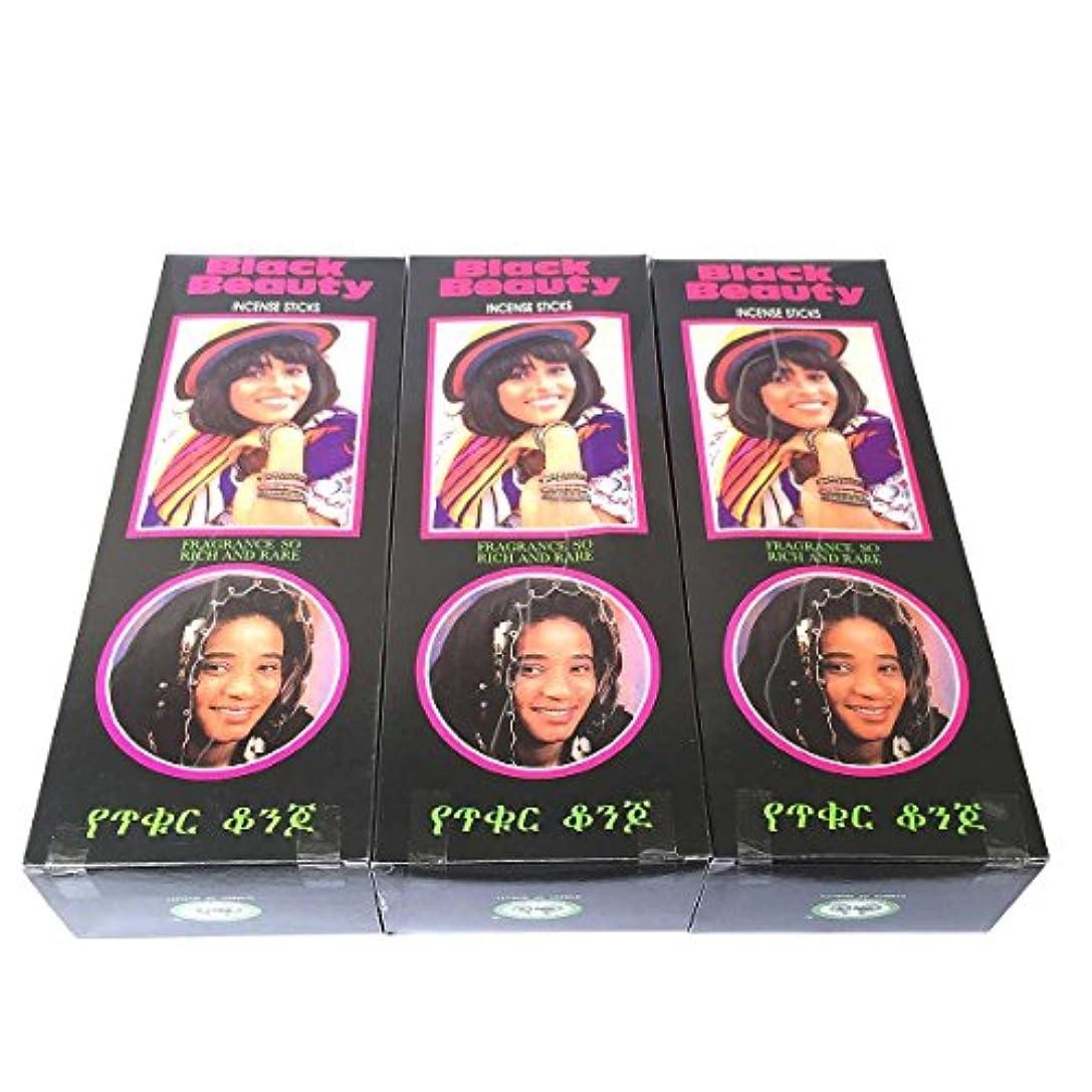 ランデブー道徳教育酸っぱいブラックビューティー香スティック 3BOX(18箱) /CYCLE BLACK BEAUTY/インセンス/インド香 お香 [並行輸入品]