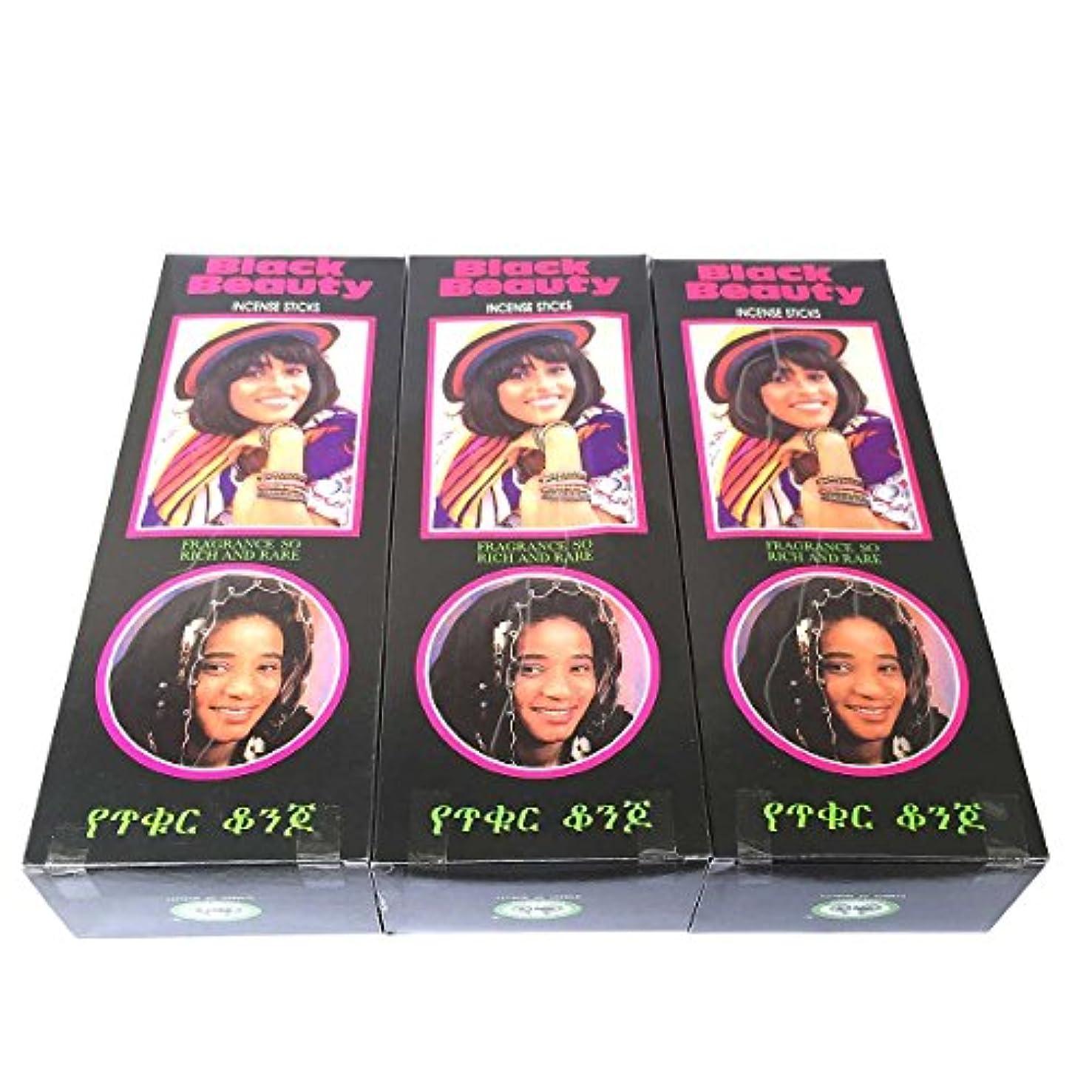 シンジケート不要尽きるブラックビューティー香スティック 3BOX(18箱) /CYCLE BLACK BEAUTY/インセンス/インド香 お香 [並行輸入品]
