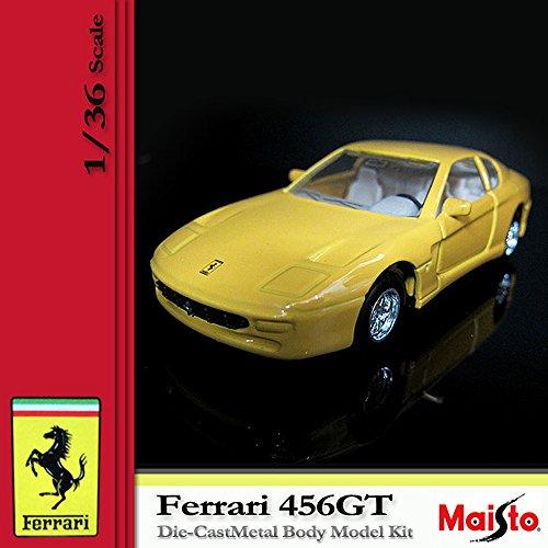 [マイスト] MAISTO FERRARI フェラーリ 456GT 1/36 Scale DIE CAST METAL BODY MODEL KID Yellow (4)