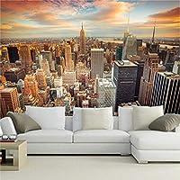 Xbwy 3D壁画壁紙背景現代都市ニューヨーク風景リビングルームのソファの背景家の装飾壁紙壁画-350X250Cm