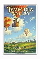 テメキュラ・バレー・ワイナリー - リバーサイド郡 - サウスコーストAVAブドウ園 - カリフォルニアワインカントリーアート によって作成された カーン・エリクソン - アートポスター - 33cm x 48cm