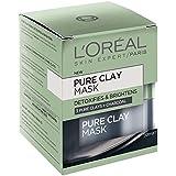 L'OREAL PARIS L'Oréal Paris Pure Clay Detoxifying Charcoal Mask, 50 Gram