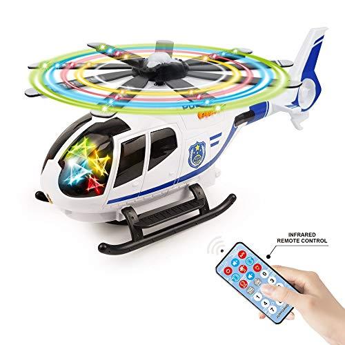 飛行機 おもちゃ ラジコン こども向け 自動的に方向転換360° LED 音楽20曲 カラフルライト点滅 3D投影 音量調整できる 電動飛行機 Bajoy 男の子おもちゃ 誕生日 クリスマス プレゼント 日本語説明書付き