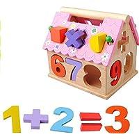 chusea面白い子供おもちゃカラフルな木製Shape Sorter幾何ソート家教育形状色認識Toy for Kids