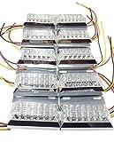 トラック 用 角型 12 LED サイド マーカー ランプ 12V 24V 兼用 10個 セット ホワイト アンバー レッド ブルー グリーン レインボー カラー 各種 ダンプ カー トレーラー デコトラ 等 (ホワイト)