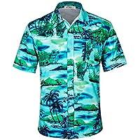 APTRO Men's Hawaiian Shirt Short Sleeve Summer Shirts