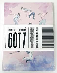 GOT7 ガッセブン - FLIGHT LOG : DEPARTURE [Rose Quartz Ver.] CD + Photo Booklet + Photocard + Folded Poster [KPOP MARKET特典: 追加特典フォトカードセット] [韓国盤]