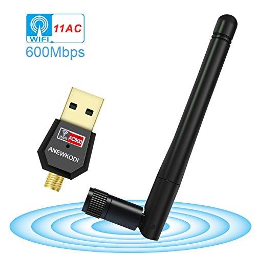 ANEWKODI 無線lan 子機 親機 600Mbps wifi子機 wifi アンテナ 新型 取り外し可能 11ac技術11ac/n/a/g/b 5Ghz/433+2.4G/150Mbps対応 Windows10/8.1/8/7/XP/Vista/Mac OS 対応 USB2.0 無線lan 子機無線lan acアダプタ 高速通信
