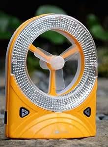 充電式サキュレーターLEDライト付 扇風機 (オレンジ)