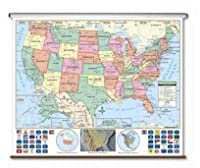 Universal Map 15063 US Primary Wall Map-Roller