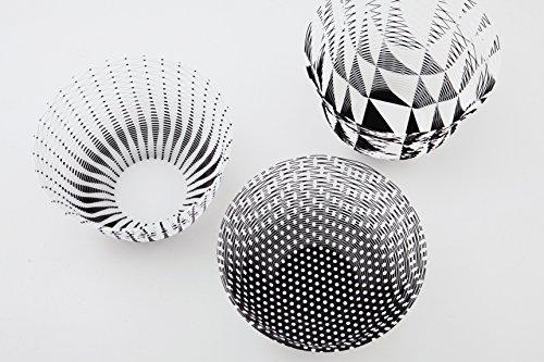 空気の器 04 ブラック/ホワイトパターン