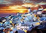 500ピース ジグソーパズル サントリーニの夕景―ギリシャ(38x53cm)