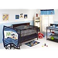 Disney My Friend Mickey 4 Piece Crib Bedding Set [並行輸入品]