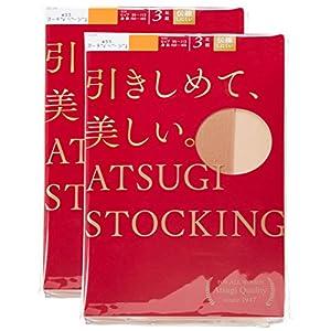 (アツギ)ATSUGI ストッキング ATSUGI STOCKING(アツギ ストッキング) 引きしめて、美しい。 お腹ゆったりJサイズ 〈3足組2セット〉 ヌーディベージュ JM~L