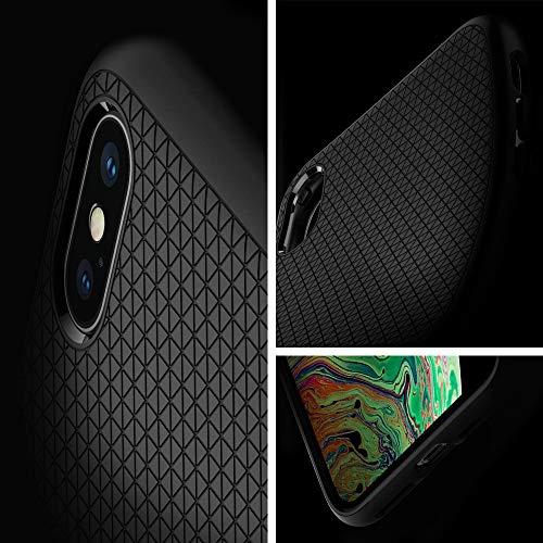 『【Spigen】 スマホケース iPhone XS Max ケース 6.5インチ 対応 TPU 米軍MIL規格取得 耐衝撃 リキッド・エアー 065CS25126 (マット・ブラック)』の2枚目の画像