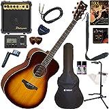 YAMAHA エレアコ 初心者 入門 ギターの生音にリバーブ、コーラスをかけられるトランスアコースティックギター すぐに始められるスタンダード15点セット FS-TA/BS(ブラウンサンバースト)