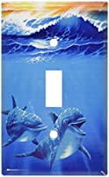 Dolphins at Playスイッチプレート Single Toggle 203-S-plate 1