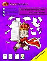 ロイヤル要素Waterslideデカール紙–(メニューオプション:インクジェットレーザー、クリアまたはホワイト20シートプレミアムWater Slide Decalインクジェットまたはレーザープリンタの用紙a4サイズ 8.27 x 11.69 クリア