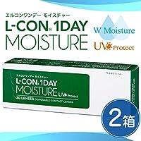 エルコン ワンデー モイスチャー UV 30枚 【BC】8.7 【PWR】-3.50 【2箱セット】