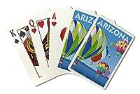 Arizona–ホットエアバルーン( Playingカードデッキ–52カードPokerサイズwithジョーカー)
