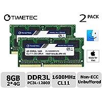 Timetec Hynix IC 8GB キット (2x4GB) Mac用 DDR3L 1600 MHz PC3L 12800 SODIMM Apple専用増設メモリ 永久保証 (2x4GB))