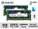Timetec Hynix IC 8GB キット (2x4GB) Mac用 DDR3L 1600 MHz PC3L 12800 SODIMM Apple専用増設メモリ 永久保証 (2x4GB))