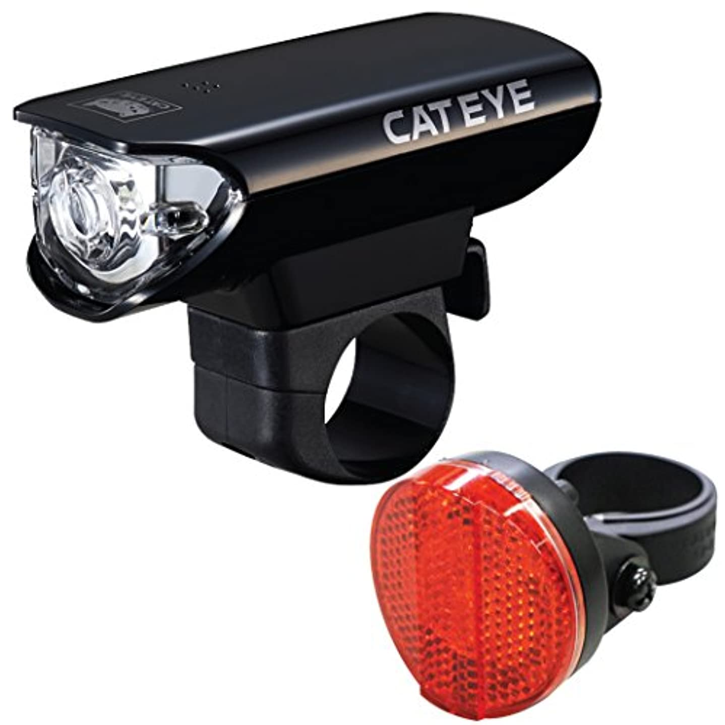 老人擬人化クリスチャンCatEye HL-EL125 AU165 Bicycle Headlight/Taillight (Combo) by Generic