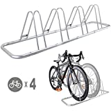 4 Bike Bicycle Floor Parking Rack Storage Stand