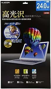 ELECOM 液晶保護フィルム 高光沢 24インチワイド EF-GF24W