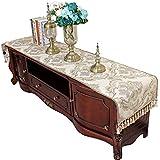 シェニールテーブルランナーベージュ、ファミリーディナー、ギャザリング、パーティー、毎日の使用のためのゴージャスなテーブルランナー(6サイズあり) (色 : ベージュ, サイズ さいず : 45×120cm)