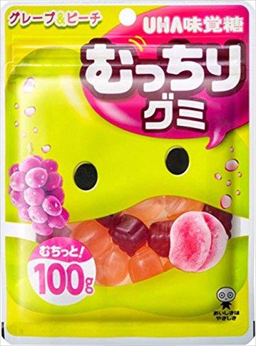 UHA味覚糖 むっちりグミ グレープ&ピーチ 100g×10袋
